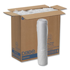 Dixie® Reclosable Lids, Fits 12 oz to 20 oz Dixie Cups, 10 oz to 20 oz PerfecTouch Cups, White, 100/Pack, 10 Packs/Carton