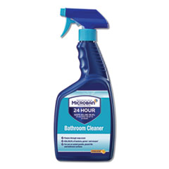 Microban® 24-Hour Disinfectant Bathroom Cleaner, Citrus, 32 oz Spray Bottle