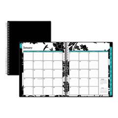 Blue Sky™ Barcelona Monthly Planner, 10 x 8, Black Cover, 2020