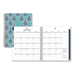 Blue Sky™ Sullana Monthly Planner, 10 x 8, Teal Cover, 2020
