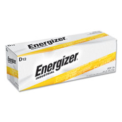 Energizer® Industrial Alkaline D Batteries, 1.5V, 12/Box