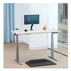 Levado Height Adjustable Desk Base (Base Only), 72w x 48d x 47.2h, Silver