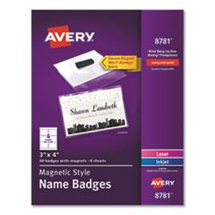 Avery® Magnetic Style Name Badge Kit