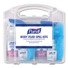 "PURELL® Body Fluid Spill Kit, 4.5"" x 11.88"" x 11.5"", One Clamshell Case with 2 Single Use Refills/Carton"