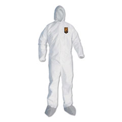 KleenGuard™ A45 Liquid/Particle Protection Surface Prep/Paint Coveralls, 4XL, White, 25/CT