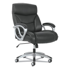 Sadie™ 3-Forty-One Big and Tall Chair, Supports up to 400 lbs., Black Seat/Black Back, Aluminum Base