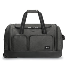 Solo Leroy Rolling Duffel, Polyester, 12 x 10 1/2 x 10 1/2, Gray