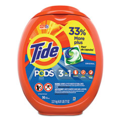 Tide® Detergent Pods, Tide Original Scent, 96/Tub
