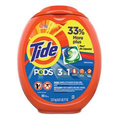 Tide® Detergent Pods, Tide Original Scent, 96/Tub, 4 Tubs/Carton