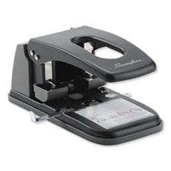 """Swingline® 100-Sheet High Capacity 2-Hole Punch, Fixed Centers, 9/32"""" Holes, Black/Gray"""
