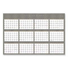 Blue Sky™ Adrianna Laminated Calendar, 36 x 24, Taupe, 2020