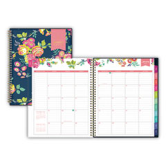 Blue Sky® Day Designer CYO Weekly/Monthly Planner, 11 x 8 1/2, Navy/Floral, 2020