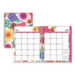 Blue Sky™ Mahalo Academic Year CYO Weekly/Monthly Planner, 11 x 8 1/2, Tropical Floral, 2019-2020