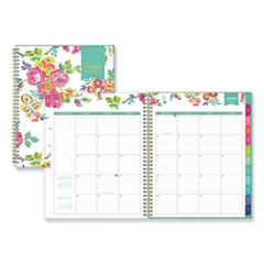 Blue Sky® Day Designer CYO Weekly/Monthly Planner, 11 x 8.5, White/Floral, 2021