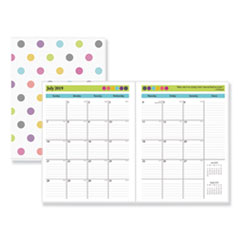 Blue Sky™ Teacher Dots Academic Year Monthly Planner, 11 x 8 1/2, Assorted, 2019-2020