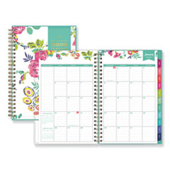 Blue Sky® Day Designer CYO Weekly/Monthly Planner, 8 x 5, White/Floral, 2021