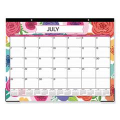 Blue Sky® Mahalo Academic Year Desk Pad, 22 x 17, Tropical, 2020-2021