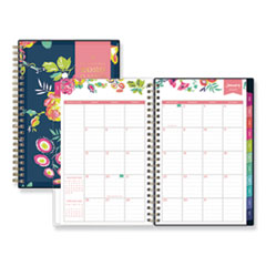 Blue Sky® Day Designer CYO Weekly/Monthly Planner, 8 x 5, Navy/Floral, 2021