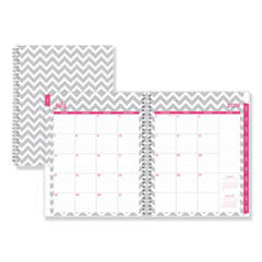 Blue Sky® Dabney Lee Ollie Academic Weekly/Monthly Planner, Gray Chevron, 8.5 x 11, 2020-2021