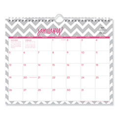 Blue Sky® Dabney Lee Ollie Wirebound Wall Calendar, Gray/Pink, 11 x 8.75, 2021