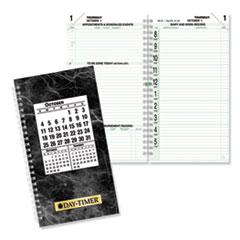 Day-Timer® Original Two-Page-Per-Day Wirebound Refill, 6 1/2 x 3 1/2, White/Green, 2020