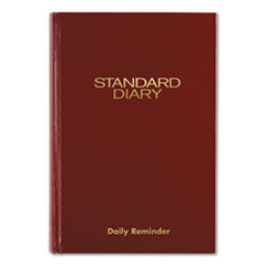Standard Diary Recycled Daily Reminder, Red, 8 1/4 x 5 3/4, 2020