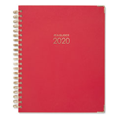 AT-A-GLANCE® Harmony Weekly/Monthly Hardcover Planner, 11 x 8.5, Berry, 2021-2022