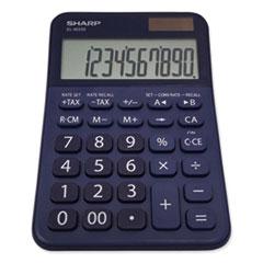 Sharp® ELM335BBL Desktop Calculator, 10-Digit LCD, Blue