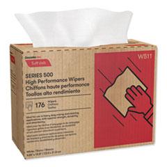 Cascades PRO Tuff-Job S500 High Performance Wipers, 9 1/4 x 12 1/2, 176/Box, 10 Box/Carton