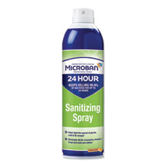 Microban® 24-Hour Disinfectant Sanitizing Spray, Citrus, 15 oz Aerosol Spray
