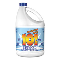 101 Regular Cleaning Low Strength Bleach, 1 gal Bottle, 6/Carton