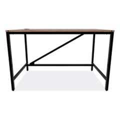 Alera® Industrial Series Table Desk, 47.25w x 23.63d x 29.5h, Modern Walnut