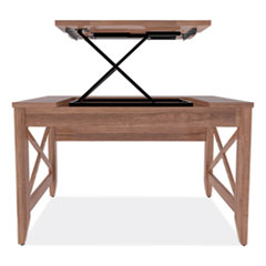 "Alera® Sit-to-Stand Table Desk, 47.25"" x 23.63"" x 29.5"" to 43.75"", Modern Walnut"