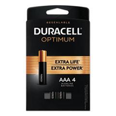 Optimum Alkaline AAA Batteries, 4/Pack