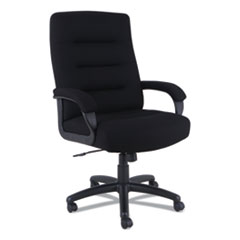 Alera® Alera Kesson Series High-Back Office Chair, Supports up to 300 lbs., Black Seat/Black Back, Black Base