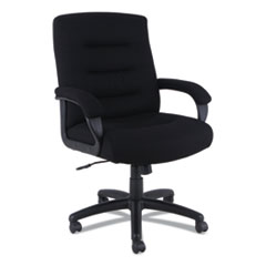 Alera® Alera Kesson Series Mid-Back Office Chair, Supports up to 300 lbs., Black Seat/Black Back, Black Base