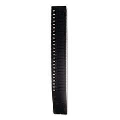 "Expandable Time Card Rack, 25-Pocket, Holds 9"" Cards, Plastic, Black"