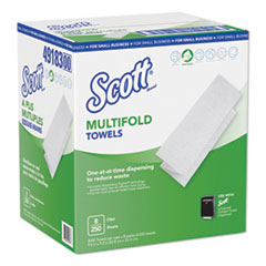 Scott® Multi-Fold Paper Towels, 9.2 x 9.4, White, 250/Pack, 8 Packs/Carton