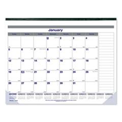 Blueline® Net Zero Carbon Monthly Desk Pad Calendar, 22 x 17, Black Band and Corners, 2022