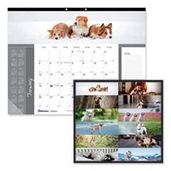 Blueline® Pets Collection Monthly Desk Pad