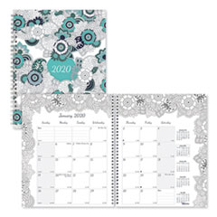 Blueline® Doodleplan Monthly Planner, 8 7/8 x 7 1/8, Coloring Pages, 2020