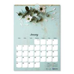 Brownline® Twin Wirebound Wall Calendar, One Month per Page