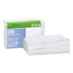 Tork® Industrial Cleaning Cloths, 1-Ply, 12.6 x 15.16, Gray, 55/Pack, 8 Packs/Carton