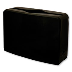 "GEN Countertop Folded Towel Dispenser, 10.63"" x 7.28"" x 4.53"", Black"