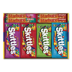 Wrigley's® Skittles & Starburst Fruity Candy Variety Box, Assorted, 30 Single Packs