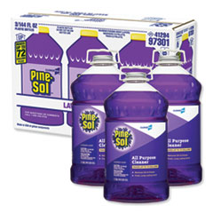 Pine-Sol® All Purpose Cleaner, Lavender Clean, 144 oz Bottle, 3/Carton