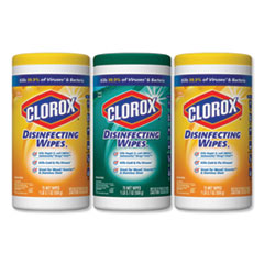 Clorox® Disinfecting Wipes, 7x8, Fresh Scent/Citrus Blend, 75/Canister, 3/PK, 4 Packs/CT
