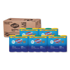 Clorox® Disinfecting Wipes, 7x8, Fresh Scent/Citrus Blend, 35/Canister, 3/PK, 5 Packs/CT