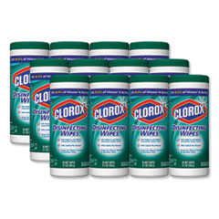Clorox® Disinfecting Wipes, 7 x 8, Fresh Scent, 35/Canister, 12/Carton