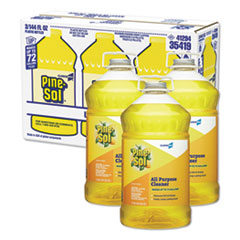 Pine-Sol® All Purpose Cleaner, Lemon Fresh, 144 oz Bottle, 3/Carton